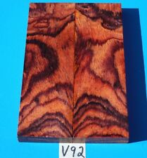 XFANCY COCOBOLO KNIFE BLANK HANDLE SCALES~EXOTIC LUMBER//EXOTIC WOOD
