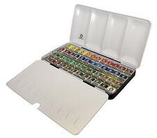 Rembrandt Artists Quality Watercolour Metal Box Set - 48 Half Pan