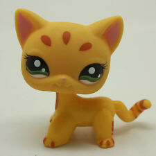 #1377 Littlest Pet Shop RARE Short Hair Orange Cat Stripe Tabby Kitty Lps