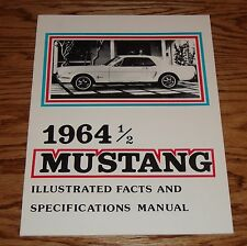 1964 1/2 Ford Mustang Illustrated Facts Specifications Manual Brochure 64