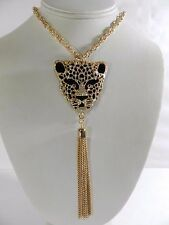 Thalia Sodi Gold-Tone Animal Head Tassle Pendant Necklace