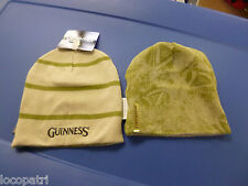 Guiness Beer Reversible Mens Stone One Size Fits Most Beanie Hat Knit Cap NWT