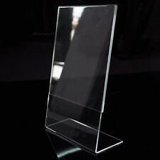 L-shaped Clear Acrylic Insert Picture Photo Frame Reusable Holder Wedding Gift