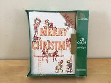 Vintage Plus Mark American Greetings ELVES Christmas Cards - New, Sealed Box