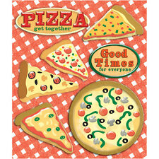 K&COMPANY STICKER MEDLEY PIZZA PARTY FOOD COOKING DIMENSIONAL SCRAPBOOK STICKERS