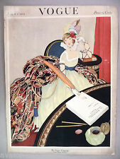 Vogue Magazine - August 1, 1921 - FRONT COVER ONLY ~~ George Wolfe Plank art