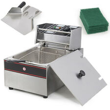 Stainless Steel 6 Liter 2500W Electric Commercial Kitchen Countertop Deep Fryer