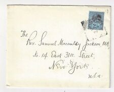 1892 London England Squared Circle, Royal Society RS Perfins and Imprint Letter