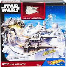 Hot Wheels Star Wars: HOTH Echo Base Battle Die-Cast Luke Skywalkers Snowspeeder