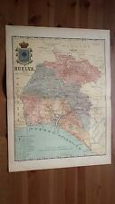1903 MAPA de Huelva 1901 por Benito Chias y Carbo (Spain Map España Spagna)
