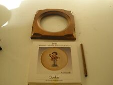 VINTAGE HUMMEL Miniature Plate Little Fiddler 1984 Music Maker Collection COA