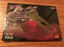 2016 Star Wars Rogue One Series 1 Pao 18/50 U - Wing Gold Medallion