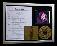 PRIMAL SCREAM Country Girl GALLERY QUALITY CD FRAMED DISPLAY+EXPRESS GLOBAL SHIP