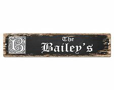 SP0672 The BAILEY'S Family name Sign Bar Store Shop Cafe Home Chic Decor Gift