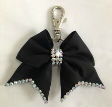 Black Bow Key Ring Bag Charm Cheerleading School Cheer Dance NWT Gift Ladies