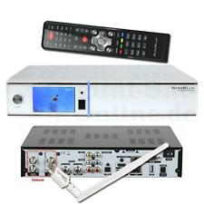 ► GIGABLUE HD quad plus Linux e2 sat HDTV Twin Receiver USB PVR nuevo WLAN Weiss