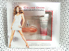 2 pc Celine Dion SENSATIONAL edt SPRAY 1.0 oz /Body LOTION 2.5 oz WOMEN  NIB@623