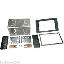 CT23SA02 SAAB 9 - 5 2005 to 2010 BLACK DOUBLE DIN FASCIA FACIA ADAPTOR KIT