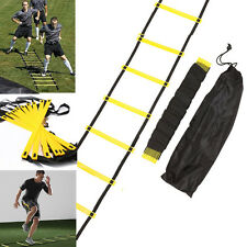 12-rung Agility Ladder for Speed Soccer Football Fitness Feet Training + Bag