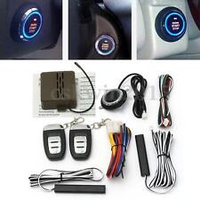 8Pcs Smart Key Passive Keyless Entry Car Security Alarm Start System Push Button