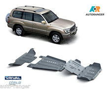 Toyota land cruiser lc100 hdj100 dispositif de protection arrière set 6mm ALU NOUVEAU skid plates Kit