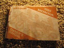 1985 Honda XR100R Magna Owner's Manual Original USED Vintage Repair XR100 XR 100