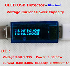 OLED USB Voltage / Current Meter Detector Power Capacity Tester Blue, White LED