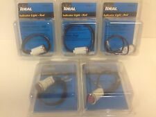 LOT (5) NEW IN PACKAGE! IDEAL RED INDICATOR LIGHTS # 776121