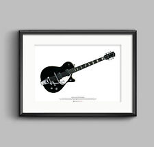 George Harrison's 1957 Gretsch Duo Jet ART POSTER A2 size