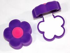 Flower Shape Purple / Pink Velvet Jewelry Gift Box Fit Necklace, Earring Or Ring