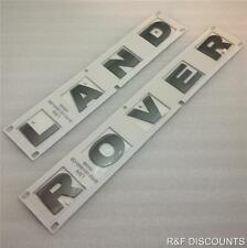 Neuf land rover freelander 2 bonnet badge decal lettres en gris ** oem part **