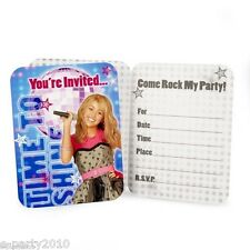 HANNAH MONTANA Rock the Stage INVITATIONS (8) ~ Birthday Party Supplies
