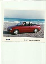 "FORD ESCORT CABRIOLET XR3i  16v   PRESS PHOTO ""sales brochure related"""