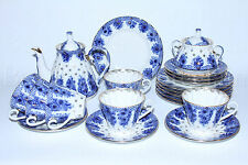 Russian Imperial Lomonosov Porcelain Tea set Little basket 6/20 persons service
