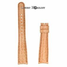 New Roger Dubuis Homage H37 18mm Regular Medium Naked Light Tan Crocodile Strap