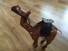 Vintage Hand Made Leather Wrapped Camel With Saddle