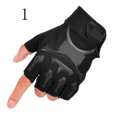 1Pair Military Tactical Outdoor Sport Motorcycle Hard Knuckle Half Finger Gloves