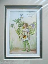 CICELY MARY BARKER - The Heartsease Flower Fairy - Vintage Double Mounted Print