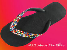 Crystal Havaianas flip flops or Cariris wedge using SWAROVSKI ELEMENTS size 5-11