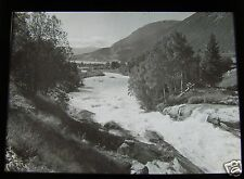 Glass Magic lantern slide UNKNOWN LOCATION 14 NORWAY - A RIVER