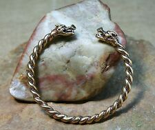 Viking Bracelet tordu Bronze Poisson scorpion 27g Viking bracelet Dragon