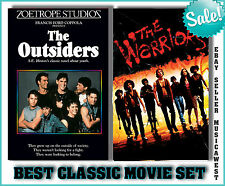 THE OUTSIDERS AND THE WARRIORS  2 PACK DVD MOVIE SET LOT CLASSICS!!