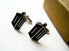 DR WHO GEMELLI CUFFLINKS DOTTOR DOCTOR TARDIS PHONE BOX POLICE COSPLAY TV #2