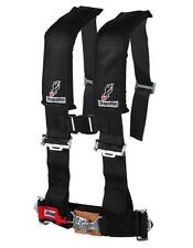 "POLARIS RANGER XP HD   DFR BLACK  3""X3"" SEWN IN 4 POINT SAFETY SEAT BELT HARNESS"