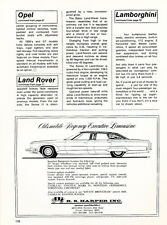 1973 Oldsmobile 98 Limousine - Classic Vintage Car Advertisement Ad J33