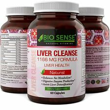 Liver Detox and Cleanse Support Pills with Milk Thistle + Dandelion + Artichoke