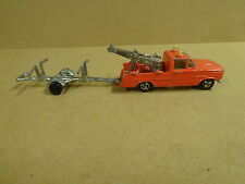 MAJORETTE MADE IN FRANCE 1/80 - DODGE PICK UP + REMORQUE