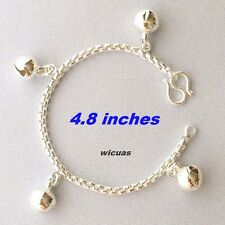 32B Silver Plated Bracelet Box Bell Thai Baby Kids Lovely Charm Child Girls 5