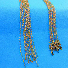 "18"" 5PCS Wholesale Fashion Making Jewelry Rolo 18K Gold Filled Necklaces Chains"