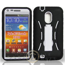 Samsung Galaxy S II Armor Case Black/White Case Cover Shield Shell